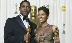 Historic … Oscar winners Halle Berry and Denzel Washington in 2002. Photograph: Frederick M Brown/Getty Images