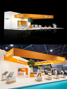 Exhibition stand design from The Inside stand building at the Construction fair (Bouwbeurs) in Jaarbeurs Utrecht, The Netherlands - 165 m2