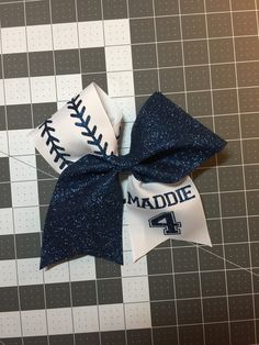 Personalized Softball Bow by BowRoyalty on Etsy