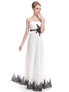 Elegant Strapless Lacey Ankle-Length Dress | Stylish Beth