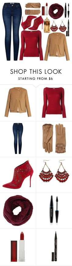 """Wool-Blend Coat"" by princess13inred ❤ liked on Polyvore featuring See by Chloé, Nude, 2LUV, Burberry, Oscar de la Renta, BCBGMAXAZRIA, MAKE UP FOR EVER, Maybelline, Smith & Cult and Thierry Mugler"