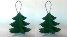 3D Paper Christmas Tree - Christmas Crafts - DIY - Christmas decorations