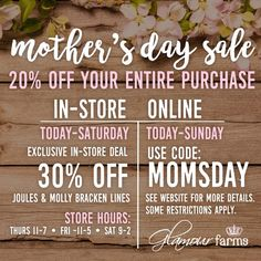 Glamour Farms Boutique - Sale - Mother's Day Sale