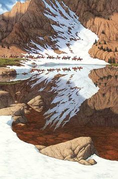 The reflection looks like an eagle flying.looks just like a Bev Doolittle painting. All Nature, Amazing Nature, One With Nature, Beautiful World, Beautiful Places, Amazing Photography, Nature Photography, Photography Storytelling, Native American Art