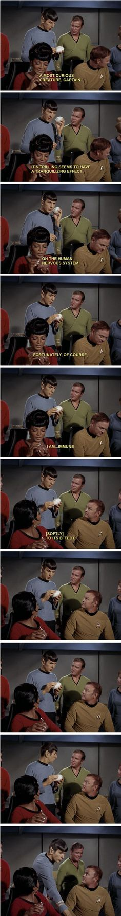 "Spock gets temporarily caught up with the feels. And everyone is like, ""Hehe! Mr. Spock..."""