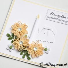 baptism, greeting card, quilling, handmade, Quilling.com.pl