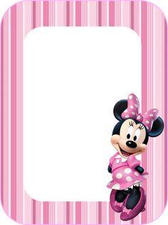 Kit Minnie con rayas rosas, para Imprimir Gratis. | Ideas y material gratis para fiestas y celebraciones Oh My Fiesta!