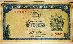 Rhodesian $1 note All Nature, Closer To Nature, Zimbabwe, Story Of Jacob, Money Notes, My Roots, African Animals, African History, The Republic
