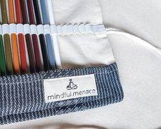 Sustainable pencil case for back to school €19.90 plus free delivery Cotton Rope, Twine, Makeup Brushes, Free Delivery, Hand Stamped, Sustainability, Back To School, Pencil, Gift Wrapping