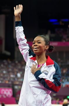 Gabby Douglas wins a gold medal in the individual all around gymnastics competition at London during the 2012 Olympics.
