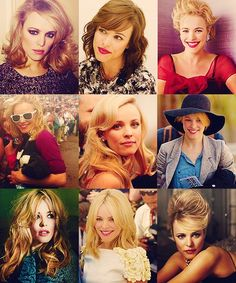 Oh man, first pic middle row makes me want to grow my hair out. Rachel McAdams.