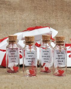Red wedding favor for guests Message in a bottle Romantic wedding Heart in a bottle Wedding thank you Favors mini bottle favors Keepsakes #weddingfavor #redwedding #weddings #favorforguests #messageinabottle #romanticwedding #romanticfavors #etsy