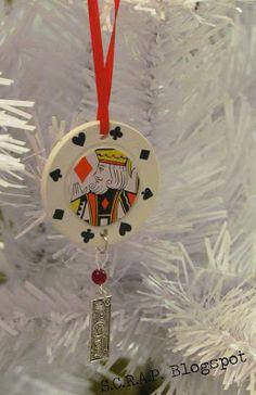 How to Make a Poker Chip Christmas Tree Ornament  www.GirlGab.com