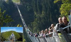 New rope suspension bridge in Germany offers thrills for visitors