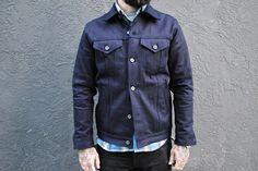 3sixteen Type 3S 14.5 Oz. Black and Indigo Denim Jackets  Read: http://rwrdn.im/3sixteen-type3s-jacket
