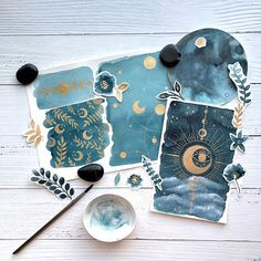 I've been working on a new journal kit and I wanted to include some of my hand painted pieces with it. I wanted to create something with… Bullet Journal Art, Bullet Journal Ideas Pages, Bullet Journal Inspiration, Art Journal Pages, Gouache Illustrations, Illustration Art, Medical Illustration, Art Sketches, Art Drawings