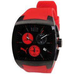 6263ed19a8945 Com seu formato quadrado e o seu cronógrafo, o Relógio Puma G.T Vermelho  esbanja estilo