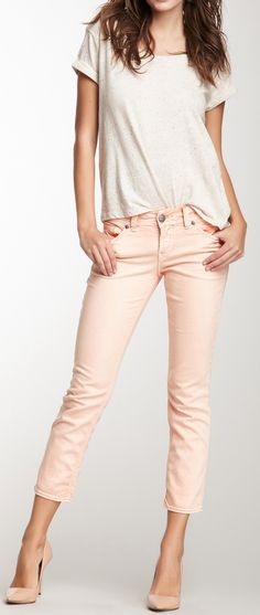 Peachy Cute & casual!!  Little pair of white flats or thongs would be better for my poor feet tho. Unfortunately.