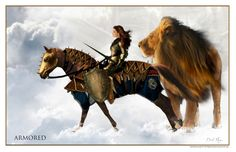 Prophetic Art of David Munoz~ Armored.  The Church is living a time to advance into a new Dimension... observing with the right intent.  The Lion of Judah and his bride, one vision, one voice.