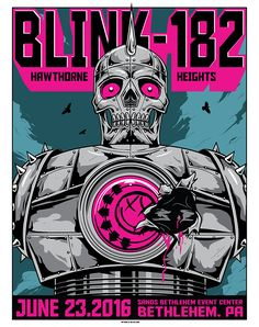 This concert flyer was interesting to me because one I like this band and two I find the image really cool and how its heart is suppose to be ripped out.