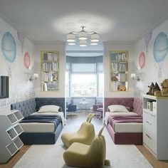 Boy And Girl Shared Room, Boy Girl Bedroom, Girl Room, Sibling Bedroom, Room Boys, Kids Bedroom Designs, Kids Room Design, Shared Bedrooms, Kids Bedroom Furniture