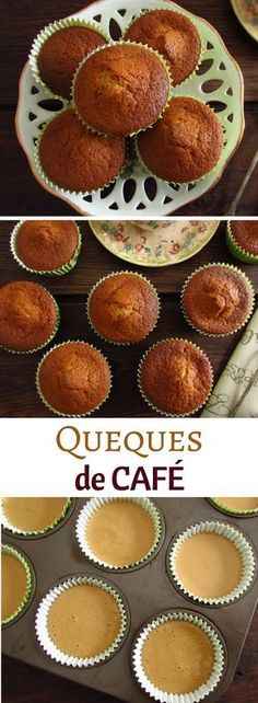 Muffins are always a delicious and quick solution for unexpected visits from friends or family. Try these delicious coffee muffins, have excellent presentation and everyone will love it. Coconut Muffins, Lemon Muffins, Portuguese Desserts, Portuguese Recipes, Cupcakes, Cupcake Cakes, Cheesecakes, Yummy Treats, Sweet Treats