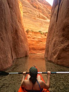 Follow @worldlywanderluster and @kaminskiphotography for more inspiring photos!  Solo female traveler, Kayaking, Arizona, Adventure, Wanderlust, Lake Powell, Slot canyon, Outdoors, travel