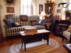 Kreamer Brothers Furniture Hi leg, 3 cushion country sofa.