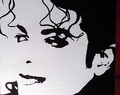 Michael Jackson Pop Art Painting on Stretched by FandomTandom Michael Jackson Dibujo, Michael Jackson Painting, Michael Jackson Drawings, Jordan Painting, Face Stencils, Easy Art Projects, Pop Culture Art, Black And White Drawing, Arte Pop