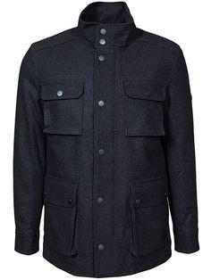 Melton Field Jacket - Ben Sherman - Chimney Marl - Jackor - Kläder - Man - NlyMan.com