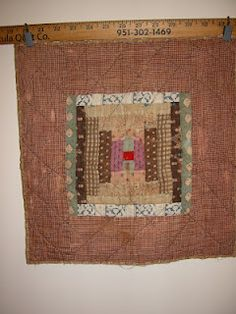 antique doll quilt in Ann Hermes Collection