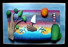 Artesanato com pedras roladas