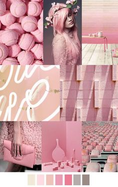 The combination of colors in clothes  - Moodboard! Beautiful Pink color Inspiration