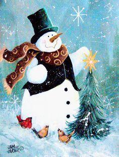 Christmas Tree Friends Snowman 2-Sided Garden Flag