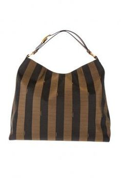 BrownPequin tote from Fendi