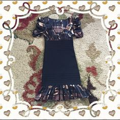 Bebe dress Very pretty dress..never worn..black portion fits to your shape..80%rayon20%spandex.. bebe Dresses Mini