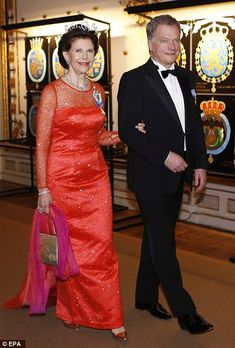 Another day, another party! King Carl XVI Gustaf's 70th birthday celebrations continue in style as royals from across the globe attend a lavish banquet in Stockholm | Daily Mail Online