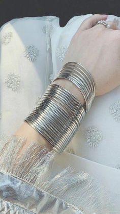 Wedding Wear Amazing Style Silver Bangles Indian Party wear Jewellery