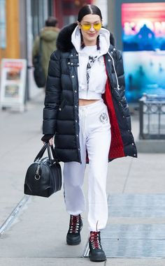 Bella Hadid from The Big Picture: Today's Hot Photos  The model rocks Off-White brand boots while out and about in New York City.