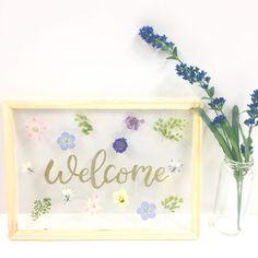 結婚式, ウェルカムボード, 押し花