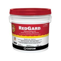 Reduce crack transmission in tile and stone floors with the help of this Custom Building Products RedGard Waterproofing and Crack Prevention Membrane. Shower Pan Liner, Roman Tub Faucets, Thin Brick, Feature Tiles, Basement Flooring, Wet Basement, Basement Bathroom, Master Bathroom, Ceramic Wall Tiles