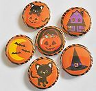Cute Halloween Mix Flatback Pin Back Buttons 1 for Bows Etc