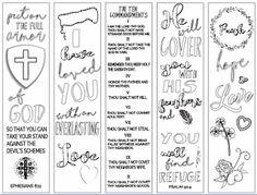 Christian study tools & art: Free Coloring Bible Verse Bookmark Printables