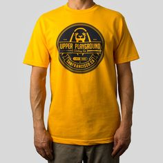 Upper Playground - UP Seal T-Shirt in Gold by Morning Breath