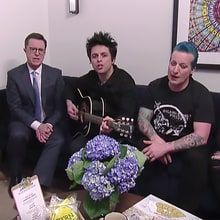 "Stephen Colbert invented a new segment with Green Day on 'The Late Show' called ""Lyrics We Can Afford to Songs We Love."""