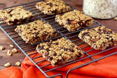 These Pumpkin Spice Granola Bars are packed with all things Fall! Creamy pumpkin , warm spices, dried apples, toasted oats, and the obvious... chocolate!