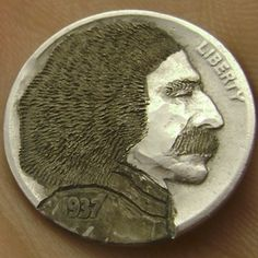 Seth Gasdaska - Einstein Hobo Nickel, Coin Collecting, Famous People, Einstein, Buffalo, Cactus, Coins, Portraits, Collection
