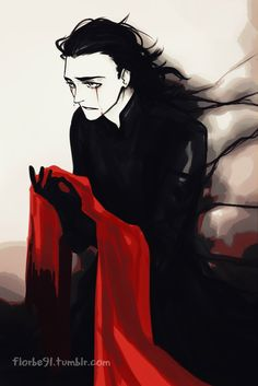 More Loki art inspired by SatansSin fic posted here because I read it again… and I died again.