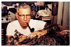"""If you don't know who Sailor Jerry is– you don't know tattoos. Norman """"Sailor Jerry"""" Collins is considered the foremost American tattoo artist of his time, and defined the craft in tw… Tattoo Old School, Norman, Maritime Tattoo, Sailor Jerry Tattoos, Tattoo Master, Tattoo Now, Tattoo Life, Tatuagem Old School, American Tattoos"""