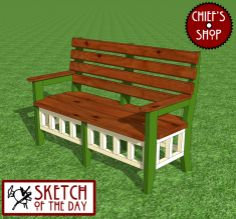 Sketch of the Day: Garden Bench